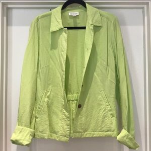Cold water Creek lime green jacket sz Med